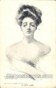 Artist Signed Howard Chandler Christy, A City Girl 1907