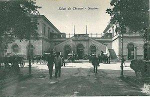 09057  CARTOLINA d'Epoca - GENOVA - CHIAVARI: STAZIONE