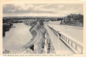 S.W. Miramichi River, C.N.R. and Highway Bridge at Nelson's Hollow, D...