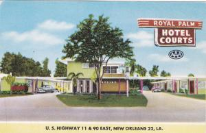 NEW ORLEANS , Louisiana , 40-50s ; Royal Palm Hotel Courts