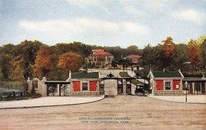 Concourse Entrance, N.Y. Zoological Garden, Bronx, N.Y., Early Postcard, Unused