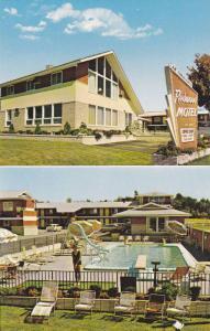 Swimming Pool, Two views of Redwood Motel & Coffee Shop, South Burlington, Ve...