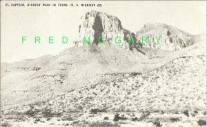 1948 El Capitan Texas Postcard: Conoco Touraide Publicity With Errors!