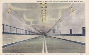 Alabama Mobile Interior Of Bankhead Tunnel Under Mobile River Curteich sk5880