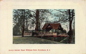 Lovers Retreat, Roger Williams Park, Providence, R.I., Postcard, Used in 1920