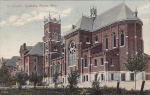 St Joseph's Academy School Adrian Michigan 1908