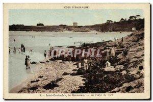 Old Postcard Saint Coulomb La Guimorais The Port Beach
