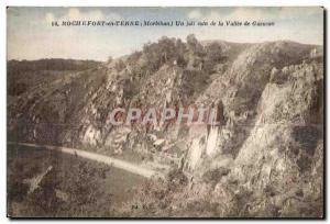 Old Postcard Rochefort en Terre (Morbihan) A Pretty corner la Vallee Gueuson