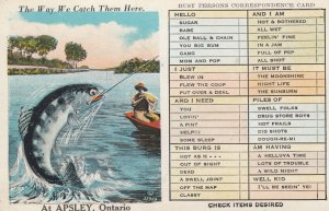 APSLEY , Ontario , Canada , 1930s ; Fishing Exaggeration #6