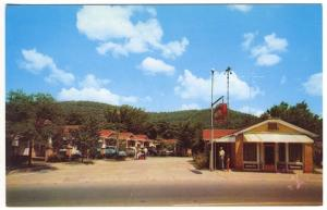Hot Springs AR Mountain View Motel Old Cars near National Park Postcard