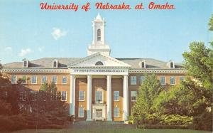 University of Nebraska @ Omaha~Colonial Main~Postcard 1950s