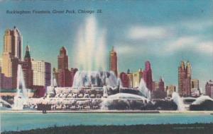 Illinois Chicago Buckingham Fountain In Grant Park 1952