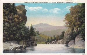Vermont Green Mountains Camels Hump And Winooski River