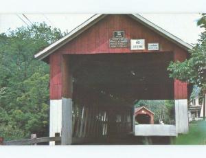 Pre-1980 TWIN COVERED BRIDGES - VERY UNIQUE Northfield Near Montpelier VT d3891