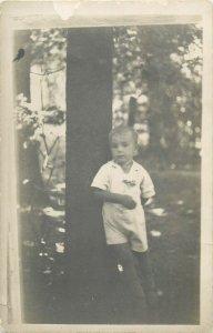 Photo postcard portrait of a boy dated 1935 Cernauti Czernowitz