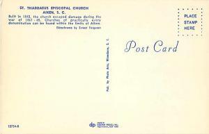 St. Thaddaeus Episcopal Church Aiken South Carolina SC