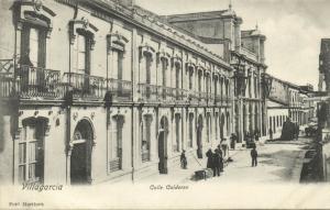 spain, VILLAGARCIA, Calle Calderon, Road Workers (1899)