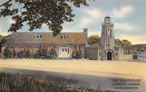 Cohasset Harbor Massachusetts~The Lighthouse Night Club~Dancing Spot~1940s Linen