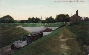 Saint Clair Tunnel Port Huron Michigan 1909