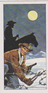 Burtons Vintage Trade Card 1972 The West No 25 Cattle Rustlers