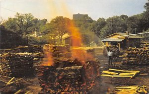Making Coal at Jack Daniel's Lynchburg Tennessee, USA Postcard PU Unknown