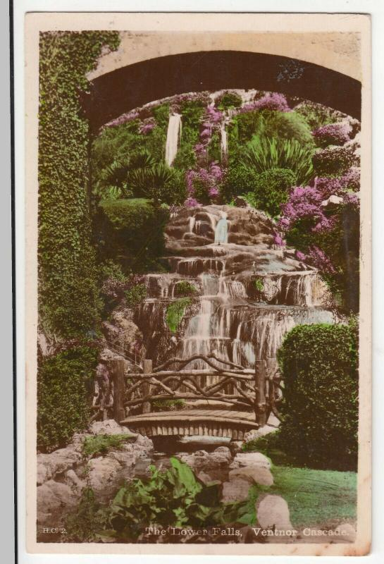 Hants; The Lower Falls, Ventnor Cascade, IOW RP PPC By Nigh, To Burbage, Norwood