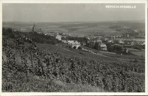 luxemburg, REMICH-MOSELLE, Panorama (1940s) RPPC