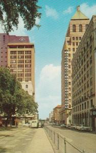 Alabama Mobile St Joseph Street Looking North From BIenville Square 1965