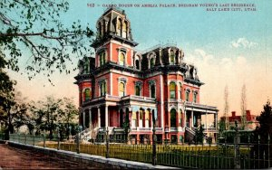 Utah Salt Lake City Gardo House Or Amelia Palace Brigham Young's Last Re...