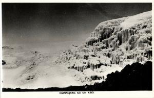 tanzania, Mount Kilimanjaro, Ice on Volcanic Cone Kibo (1950s) RPPC Postcard