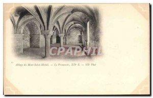 Postcard Abbey of Mont Saint Michel Promenoir XII