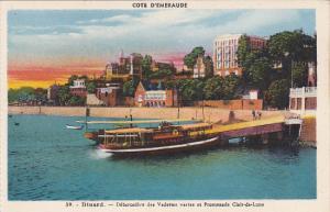 France Dinard Debarcadere des Vedettes et Promenade Claire-de-Lune
