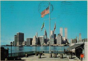 NEW YORK CITY , 1980 ; Manhattan with World Trade Center