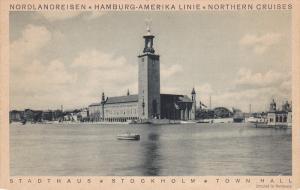 Nordlandreisen, Hamburg-Amerika Linie, Northern Cruises, Town Hall, STOCKHOLM...