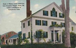 Maine Hollis Home Of Maines Noted Authoress Kate Douglass Wiggin 1912