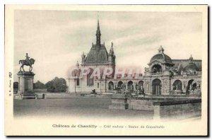 Old Postcard Chateau de Chantilly Riviera southeast Statue Connetable