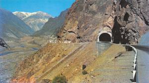 Vintage Argentina Postcard, Mendoza, Road to Chile, Tunnels of Cortaderas 2A