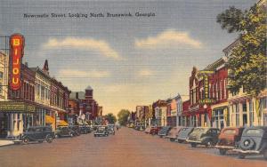 Brunswick Georgia~Newcastle Street~Universal Laundry~Bijou Theatre~1940s Linen