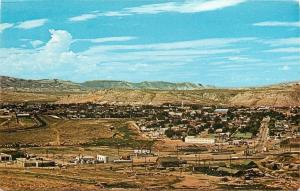 Rock Springs Wyoming~Birdseye Panorama East Entrance~Business District~1960s PC