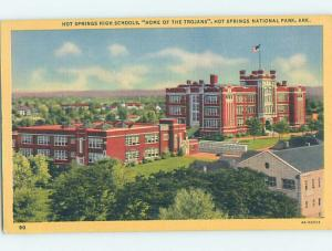 Unused Linen HIGH SCHOOL Hot Springs Arkansas AR L9938
