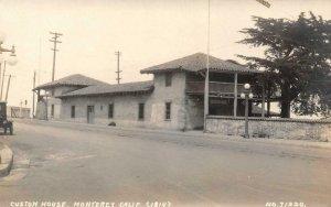 RPPC Custom House MONTEREY California c1910s Vintage Photo Postcard