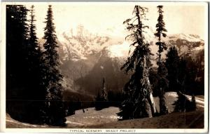 RPPC Scenery at Skagit River Hydroelectric Project Site Vintage Postcard Q12