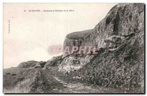 Old Postcard The Rocks and cliffs haven of Heve