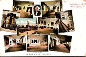 Pennsylvania Philadelphia Inependence Hall The Cradle Of Liberty Multi View 1907