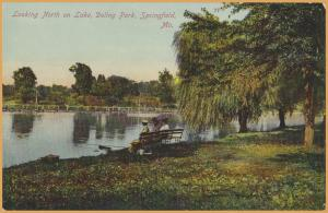 Springfield, MO., Looking North on Lake, Doling Park, Ladies on Bench