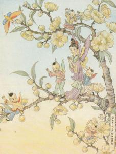 Chinese Fairy Fairies Childrens Postcard