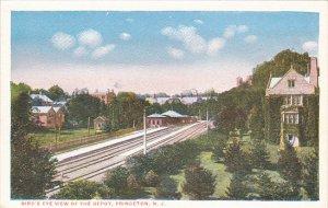 Birds Eye View Of Railroad Depot Princeton New Jersey