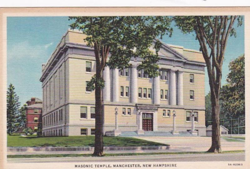 New Hampshire Manchester Masonic Temple Curteich