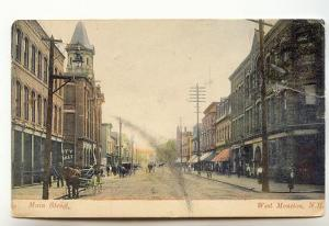 Horse Carts, Main St, West Moncton New Brunswick, Used 1907 McCoy