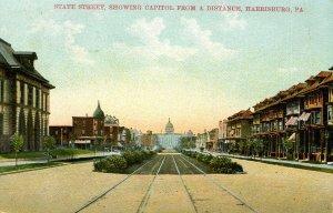 PA - Harrisburg. State Street, early 1900's